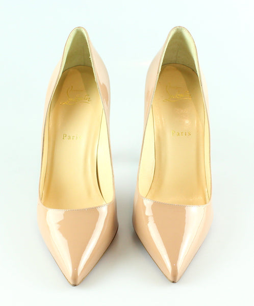 on sale d1abc 98223 Christian Louboutin Pigalle 100MM Nude Patent Heels 40/7 RRP €545