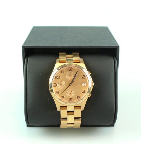 Marc By Marc Jacobs Henry Rose Gold Chronograph Watch