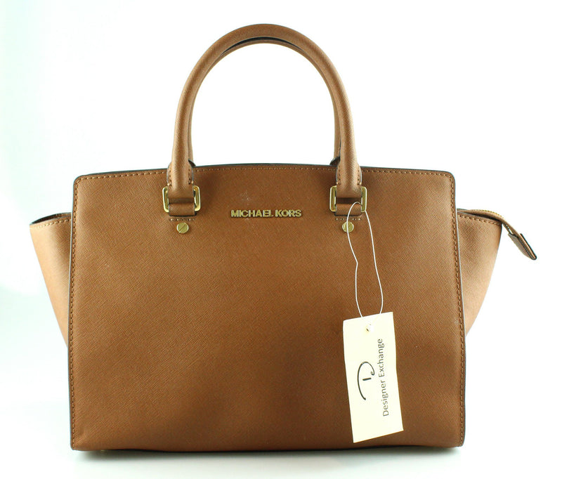 Michael Kors Tan Selma Medium GH Saffiano