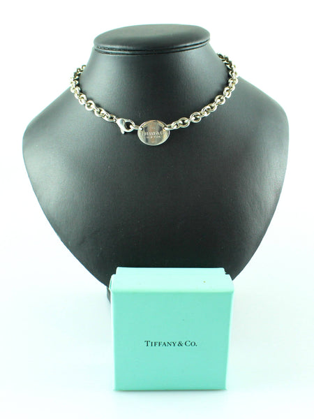 Tiffany & Co. Sterling Silver RTT Oval Tag Necklace 925(1)