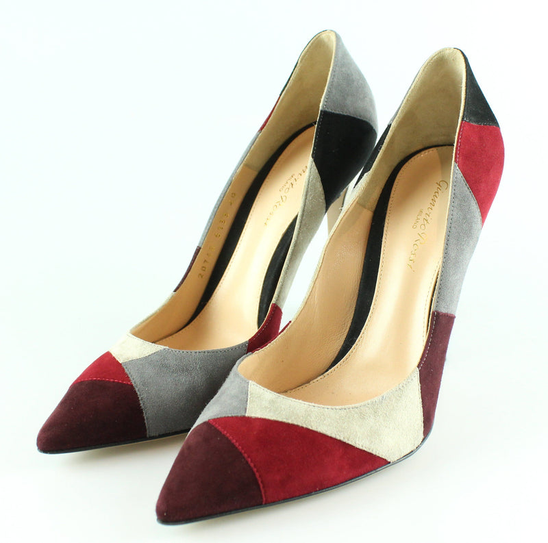 Gianvito Rossi Colour Block Suede Heels 40/7