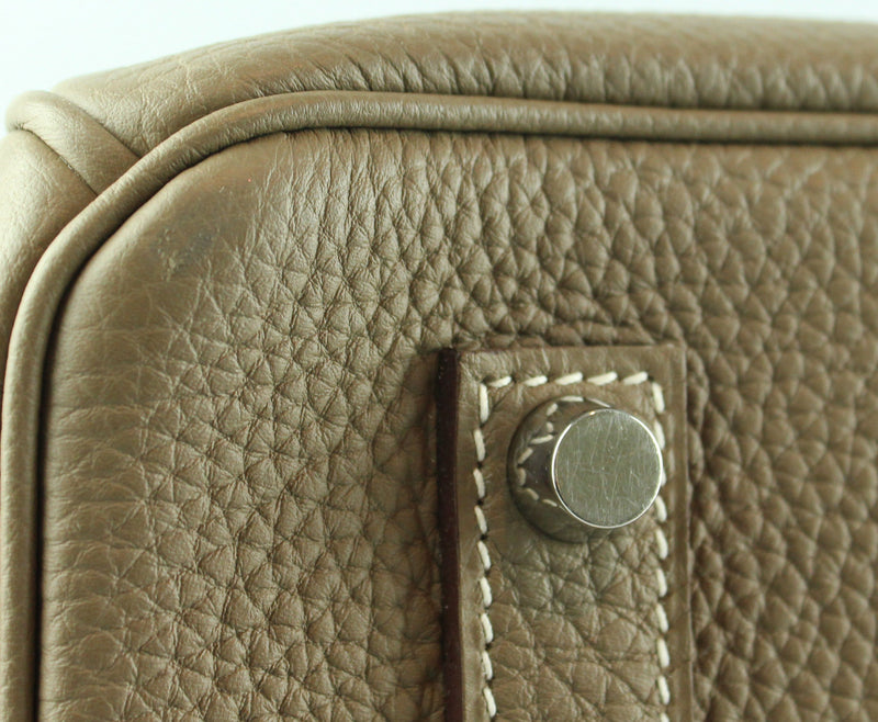 Hermes Birkin 35cm Etoupe Togo Leather Palladium Hardware 2016