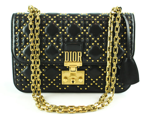 Christian Dior Dior Addict Studded Black Lambskin Bag  (RRP €2800)