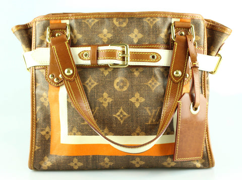 Louis Vuitton Limited Edition Monogram Tisse Rayures Tote PM SP4067 c42357a430cee
