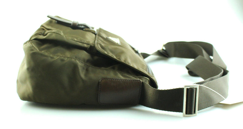 Prada Nylon Khaki Crossbody Bag