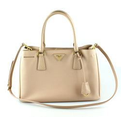Prada Cammeo Saffiano Lux Small Tote With Long Strap
