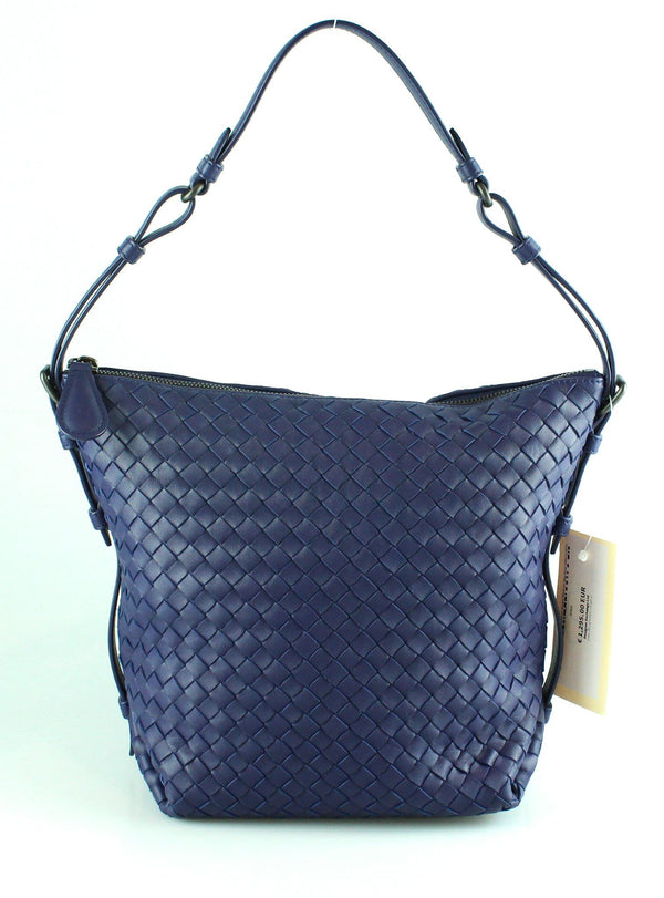 Bottega Veneta Osaka Intrecciato Nappa Medium Bag Blue (RRP €1690)