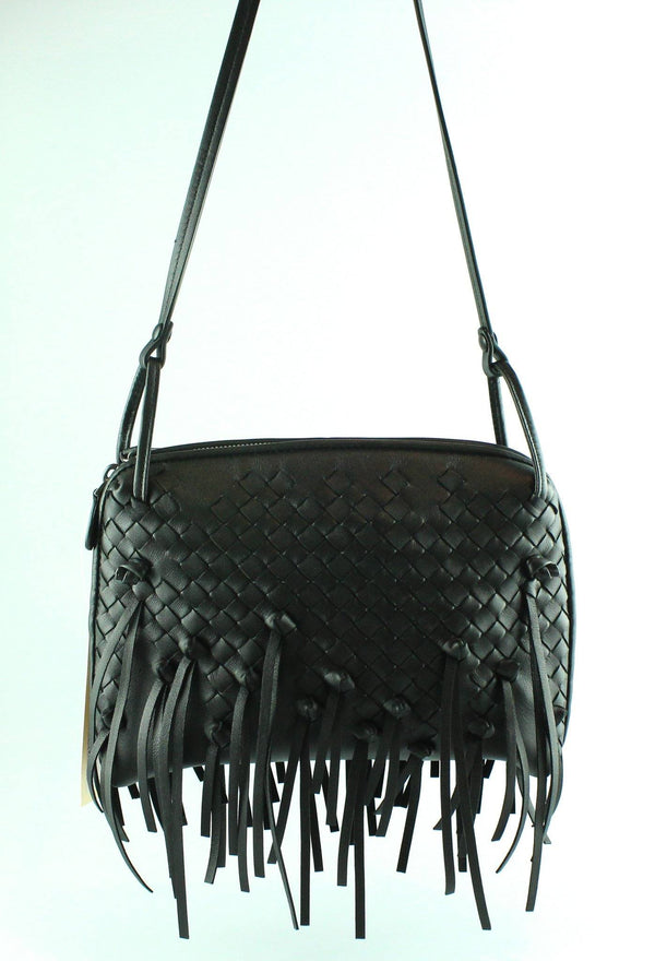 Bottega Veneta Nodini Black Intrecciato Fringed Crossbody (RRP €1400)