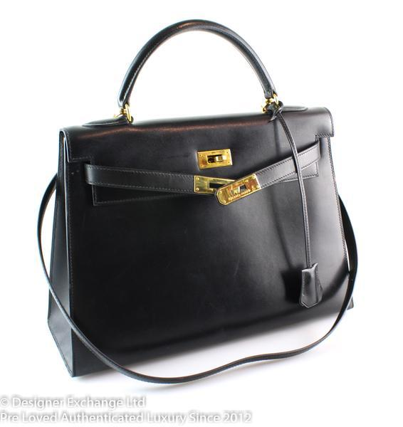 Hermes Vintage Box Leather Kelly 32cm 1995 (2)