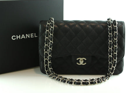 Chanel Black Caviar Jumbo Double Flap SH 2010/11 RRP €5350