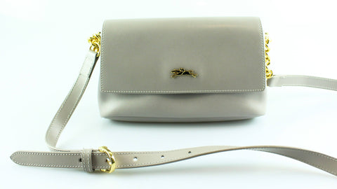 Longchamp Grey Honore 404 Cross Body