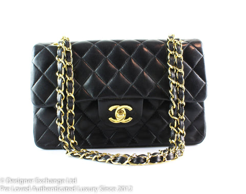 Chanel Black Lambskin Classic Small Double Flap GH 8993771