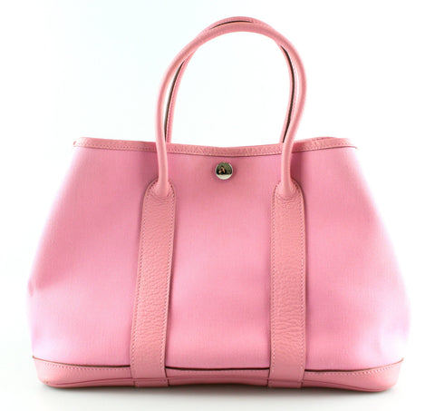 Hermes Canvas And Leather Garden Party Pink TPM (M In A Square 2009)