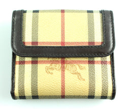 Burberry Heritage Check Small Compact Wallet