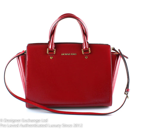 Michael Kors Red Patent Leather Selma GH