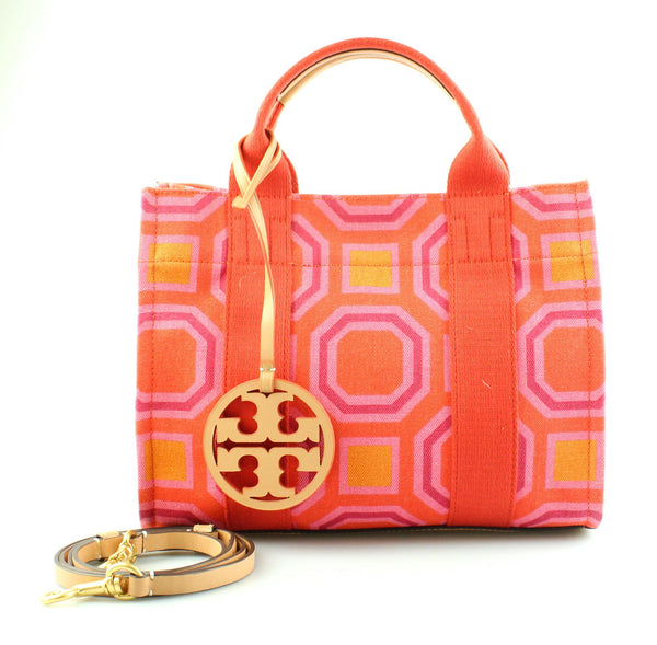 Tory Burch Tory Mini Tote Vivid Orange Octagon