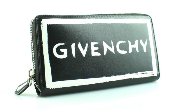 Givenchy Graffiti Logo Zip Around Wallet