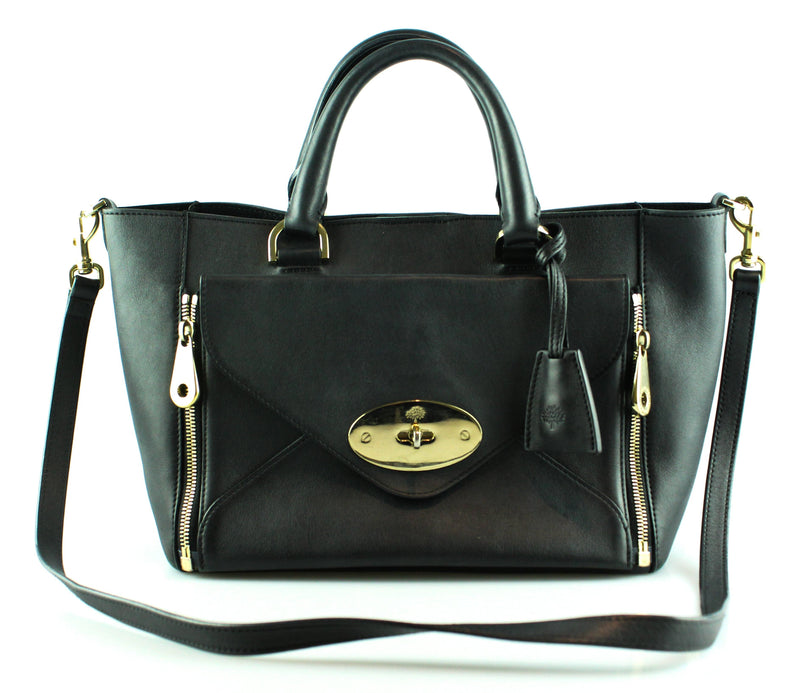 Mulberry Black Smooth Calf Small Willow GH