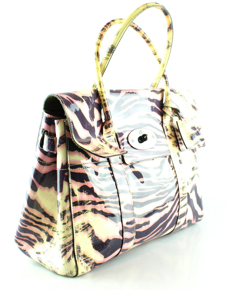 Mulberry Trippy Tiger Drummed Leather Limited Edition Bayswater
