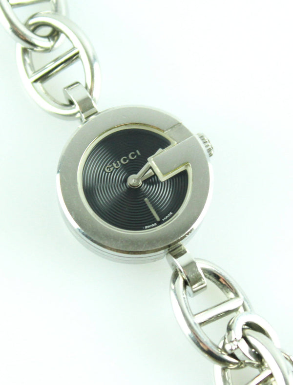Gucci Stainless Steel Riding watch With Charms