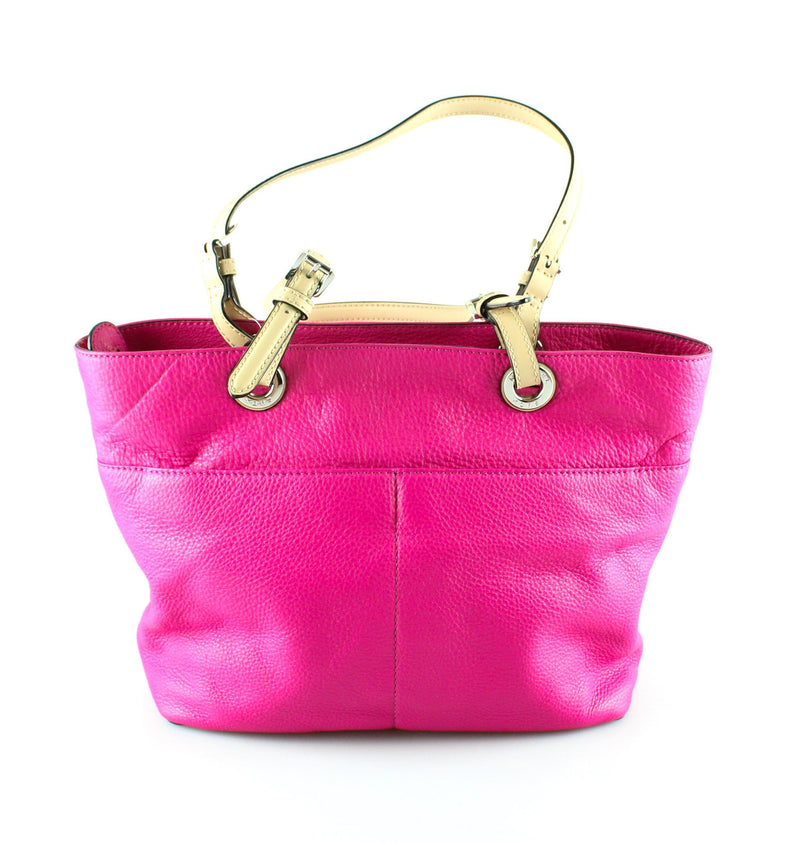 Michael Kors Hot Pink Jet Set Tote Small Twin Pocket