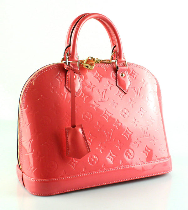 Louis Vuitton Alma PM Vernis Leather Rose Litchi