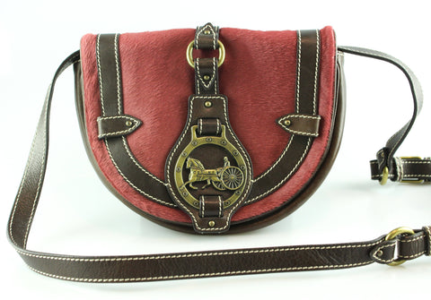 Celine Pony Hair Vintage Saddle Bag Brass Hardware