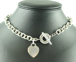Tiffany 925 RTT Heart Tag Toggle Necklace 16""
