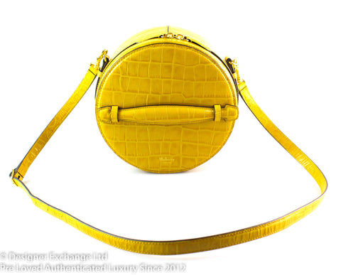 Mulberry Croc Embossed Yellow Trunk Cross Body GH