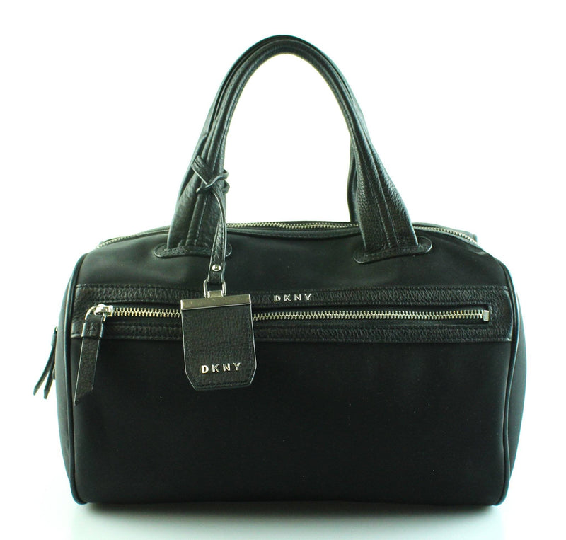 DKNY Black Nylon Bowler Bag