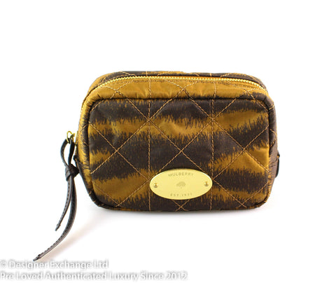 Mulberry Rosie Nylon Leopard Cosmetic Bag