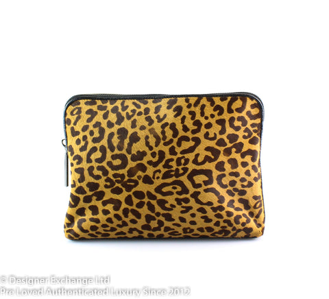 Phillip Lim 31 Minute Leopard Pony Skin/ Leather Clutch