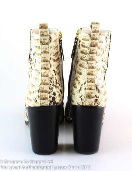 DKNY Houston Faux Snake Ankle Boots EUR 38.5 UK 5.5