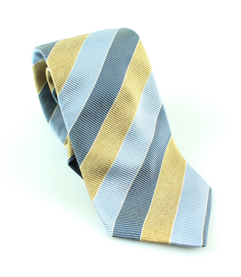 Eton Stripe Silk/Cotton Tie