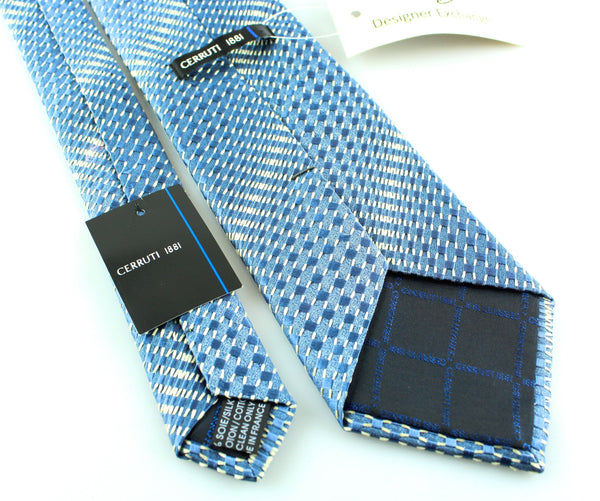 Cerruti Blue Silk/Cotton Tie