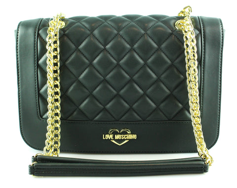 Love Moschino Dark Green Quilted Chain Bag