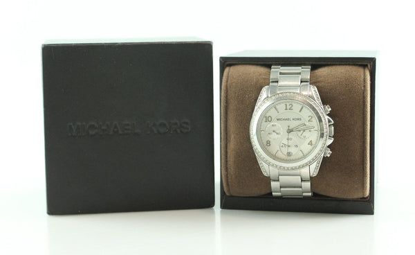 Michael Kors MK5165 Blair Silver Tone Chronograph Watch