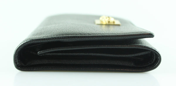 Versace Black Leather Wallet GH