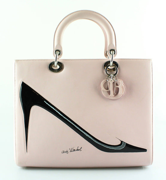 bac767d9a9 Christian Dior Ltd Edition Large Lady Dior Baby Pink Andy Warhol Colle –  Designer Exchange Ltd