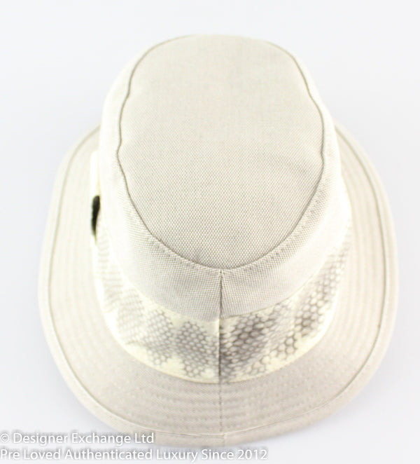 Hermes Adam Snake Trim Hat
