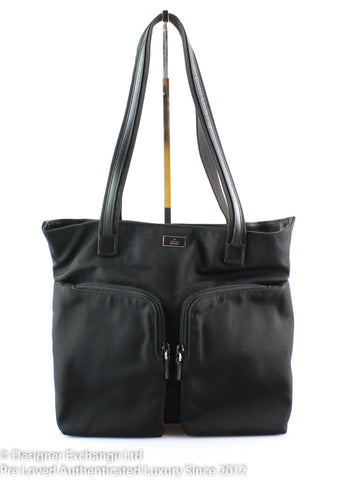 Gucci Black Nylon Tote Double Pocket