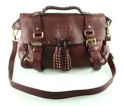 Mulberry Regular Alexa Oxblood Studded Ltd Edition