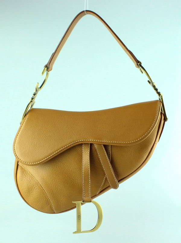 Christian Dior Calfskin Saddle Bag Tan GH (RRP €2600)