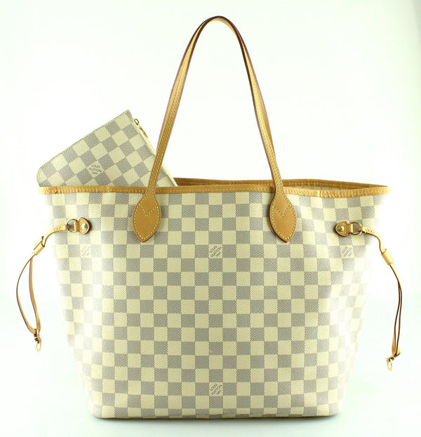 Louis Vuitton Neverfull MM Damier Azur With Pochette AR2146