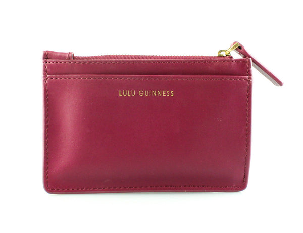 Lulu Guinness Purple Glitter Coin/Card Case