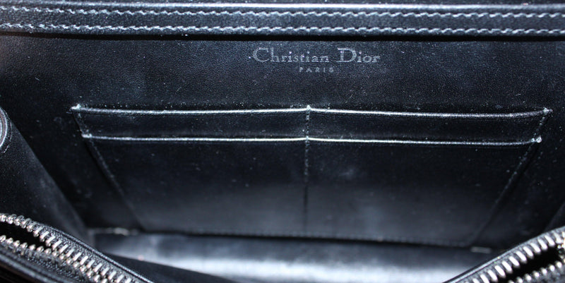 Christian Dior Diorama Wallet On Chain Black Calfskin Silver Hardware (RRP €1290)