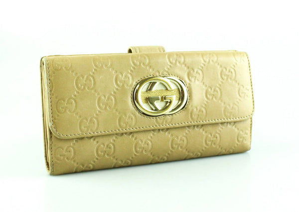Gucci Beige Guccissima Long Flap Wallet