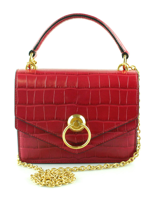 Mulberry Raspberry Shiny Croc Small Harlow GH