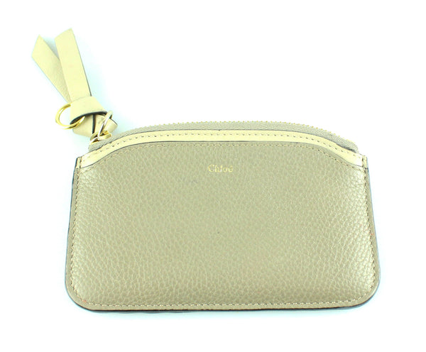 867c09498e Chloe Taupe Grained Leather Easy Credit Coin Purse