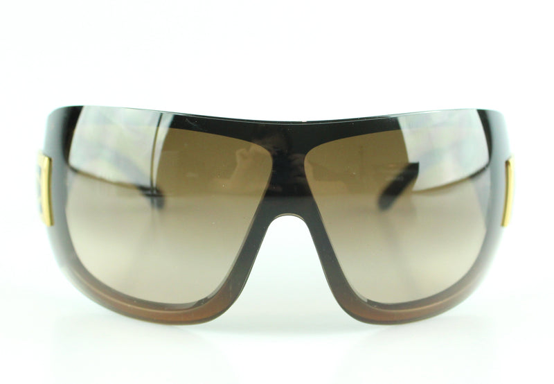 "Chanel 5086 Oversize ""Ski"" Sunglasses Dark Brown With Gold CC"